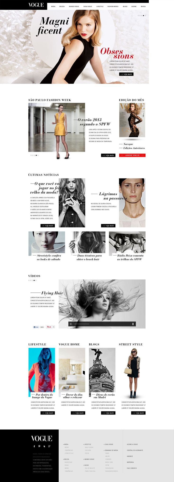 Vogue - Experimental project for Vogue Magazine #megazine #vogue #website #web #blog #webdesign #mode #fashion