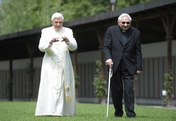 Joseph and Georg Ratzinger.