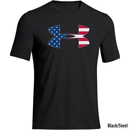 Under Armour Mens Big Flag Logo Tee-760232 - Gander Mountain