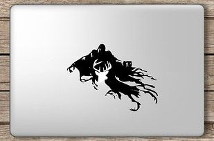 This Harry Potter Dementor and Patronus decal reps your fandom ($9). | 13 Things For Your MacBook That You Didn't Know You Wanted