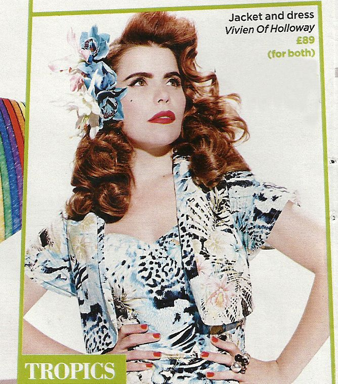 Paloma Faith in our Sarong Dress with matching Bolero! And two of our hand made…