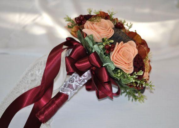 Альтернативная осенний ощущение свадебный букет на MissVioletWeddings