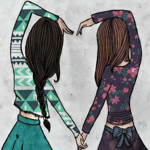 friends, forever, drawing | dibujos | Pinterest | Friends ...