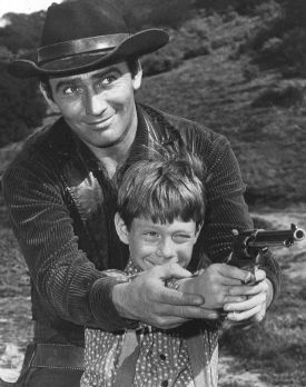 """Bill Mumy with James Drury in """"The Virginian"""": """"What was most fortunate for me, and for a handful of other young actors – but not many – was the variety of the type of projects that I was fortunate to be a part of. """""""