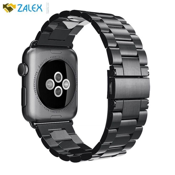 Apple Watch Replacement Band Strap Stainless Steel iWatch 42mm Series 1/2 Black #Simpeak