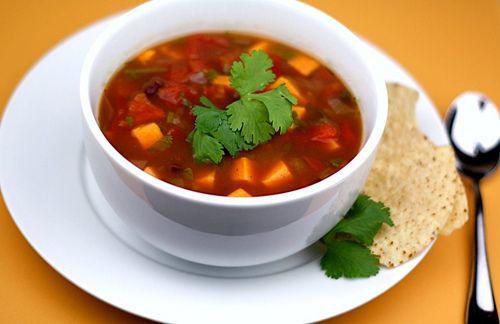 Black Bean and Sweet Potato Soup Recipe | Two Peas & Their Pod