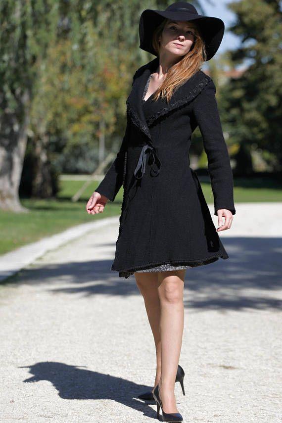 Fantaisie Bouillie Laine Manteau Femme Femme Manteau xCBerdo