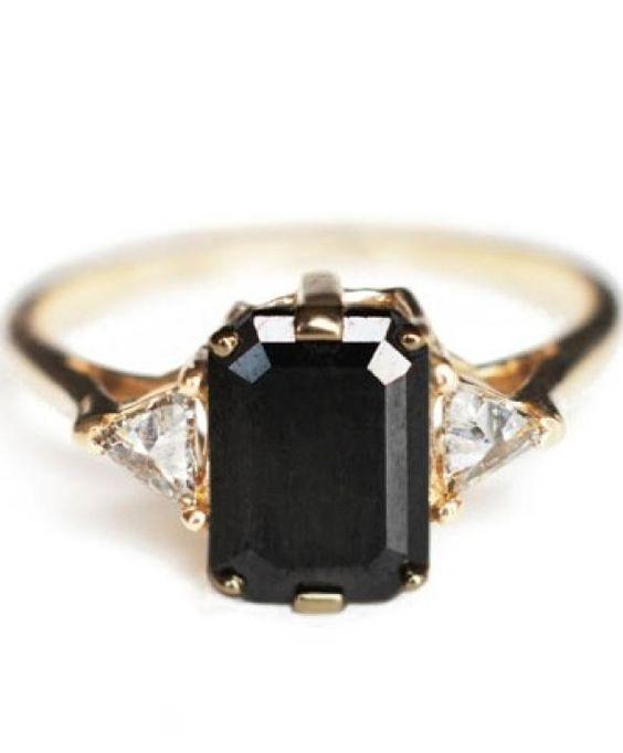 rubies.work/… Black Diamond Engagement Rings / Wedding Style Inspiration / LANE…