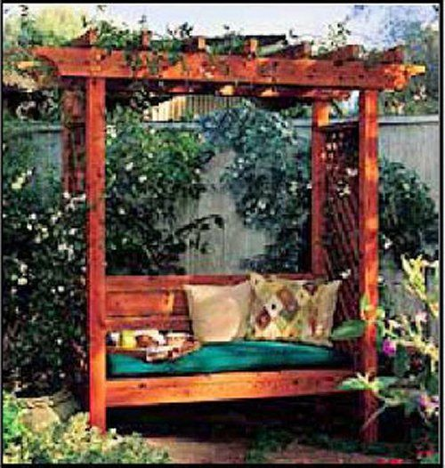 Garden swing Ideas | Pergola Plans | Plans For Building Pergolas