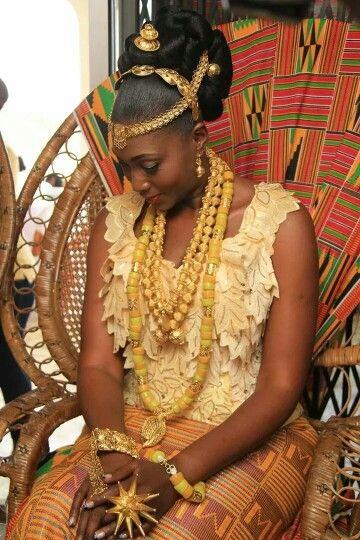Beautiful Ghanaian bride ~Latest African Fashion, African Prints, African fashion styles, African clothing, Nigerian style, Ghanaian fashion, African women dresses, African Bags, African shoes, Nigerian fashion, Ankara, Kitenge, Aso okè, Kenté, brocade. ~DK