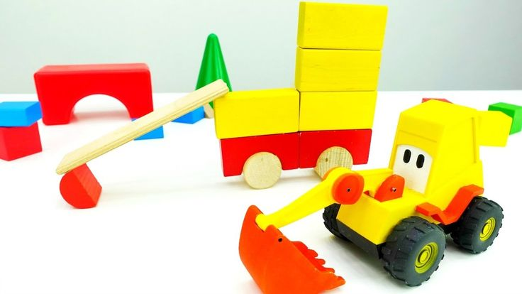 Игры для детей: Машинки и Кубики. Экскаватор Мася построил самого себя! ...