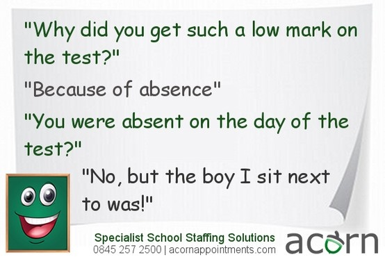 Education Humour: Justification for a poor test result! #Joke ...