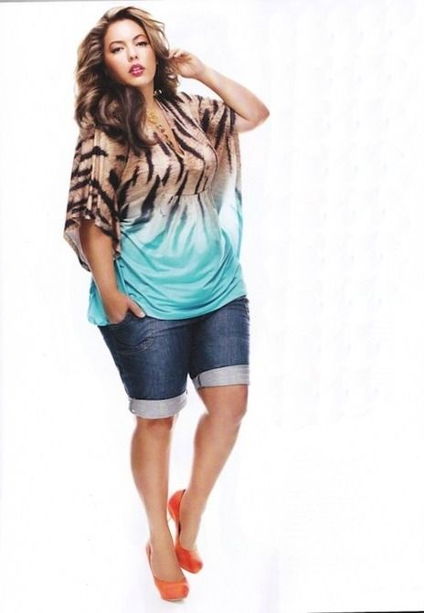 Plus size fashion animal print blue ombre top plus size #UNIQUE_WOMENS_FASHION #slimmingbodyshapers Plus Size Cover-Up curvy, plus size, curves, real women, plus size fashionistas slimmingbodyshapers.com