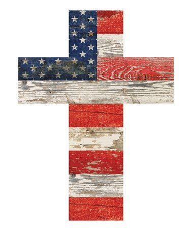 Loving this Small American Flag Cross Wall Art on #zulily! #zulilyfinds