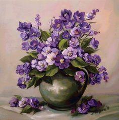 fialové kvety - Схемы вышивки - he4lin6da - Авторы - Портал «Вышивка крестом»