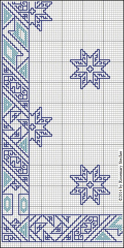 Chart for Double Running Stitch Embroidery