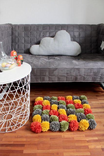 Pompon-Teppich DIY
