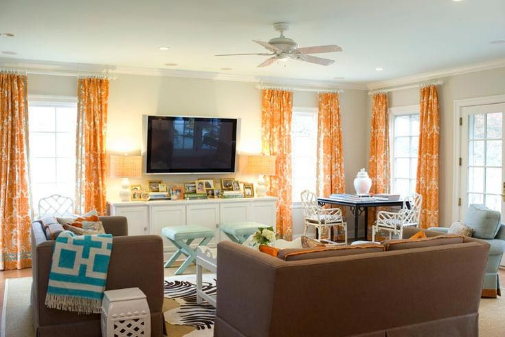 Orange and blue living room ideas pinterest damask for Orange and blue living room ideas