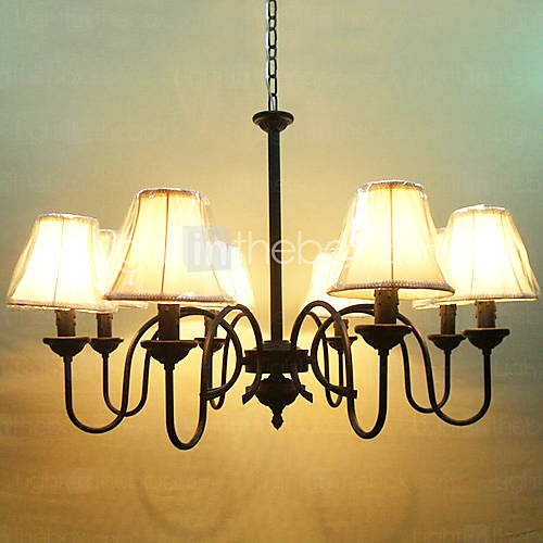 Bedroom  Chandelier with 8 Lights in Antique Style