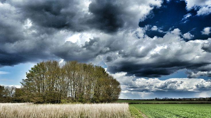 White barrow. Hampshire. UK.