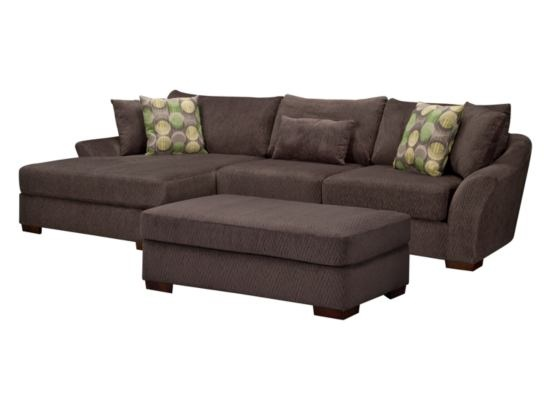 Oasis Grey 3-PC Sectional - American Signature Furniture -- love this!  sc 1 st  Pinterest : american signature sectional - Sectionals, Sofas & Couches