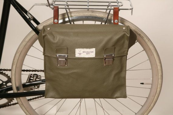 Vintage Swiss Army Messenger Bag and Bicycle Pannier