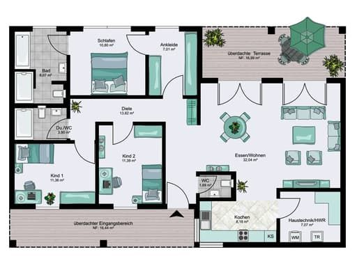 Bungalow XXL floor_plans 0 … Haus grundriss