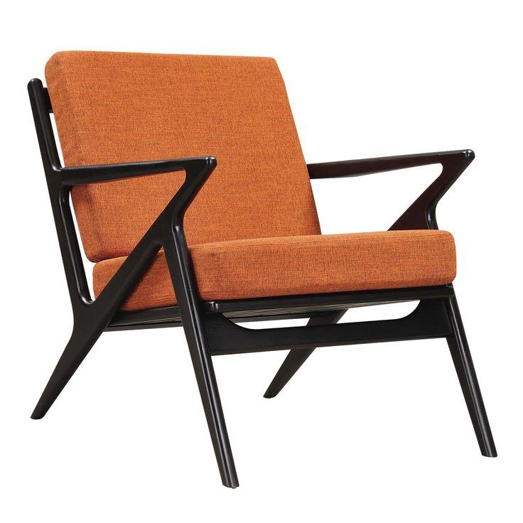 Jet Accent Chair ORANGE - BLACK