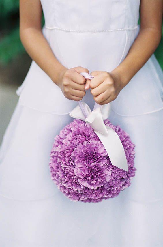 Unique Flower Arrangement With Ribbon Handle