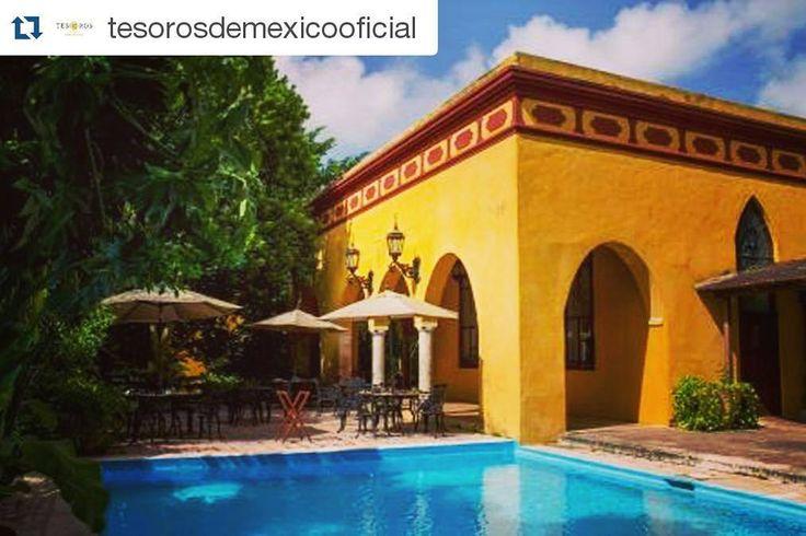 Gracias a @tesorosdemexicooficial  por esta #bella #publicación nos sentimos muy #orgullosos de pertenecer a este gran #programa! #HaciendaMisné #Mérida #Yucatán #Haciendas #tesoros #Mexico #alamexicana #hotel #hoteles #premium #PremiumYucatan by haciendamisne