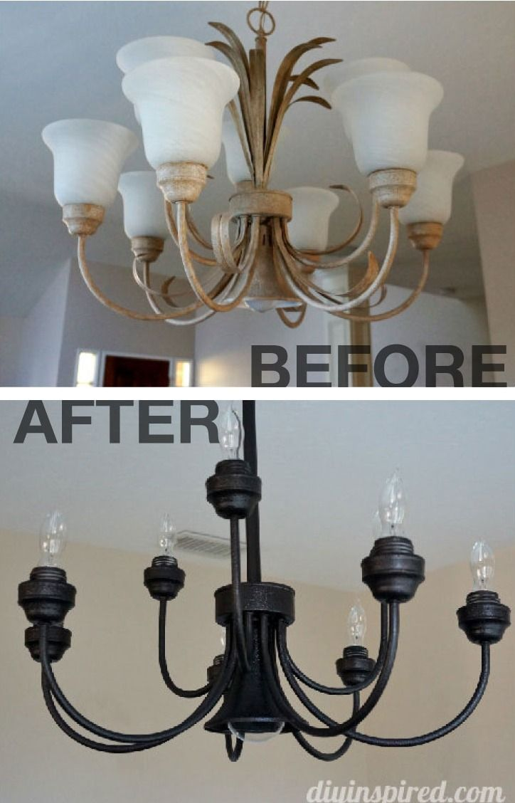 Upcycled Dining Room Chandelier