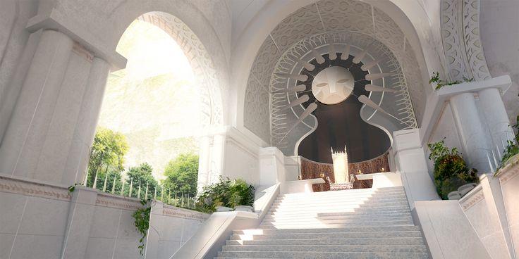 Garden Palace - Throne Room, Matt Kohr on ArtStation at https://www.artstation.com/artwork/mgxey