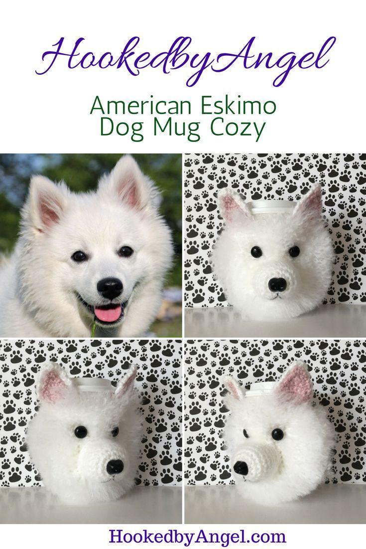 American Eskimo dog mug cozy. Designed to make dog lovers ...