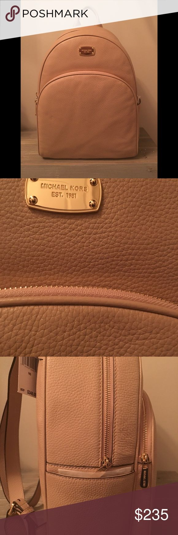 NWT Michael Kors LARGE Abbey Backpack, Blush NWT Michael Kors LARGE Abbey Backpack in Blush. Beautiful leather with stunning gold hardware. Perfect staple piece for any closet. Color is hard to find, only 1 available! Michael Kors Bags Backpacks