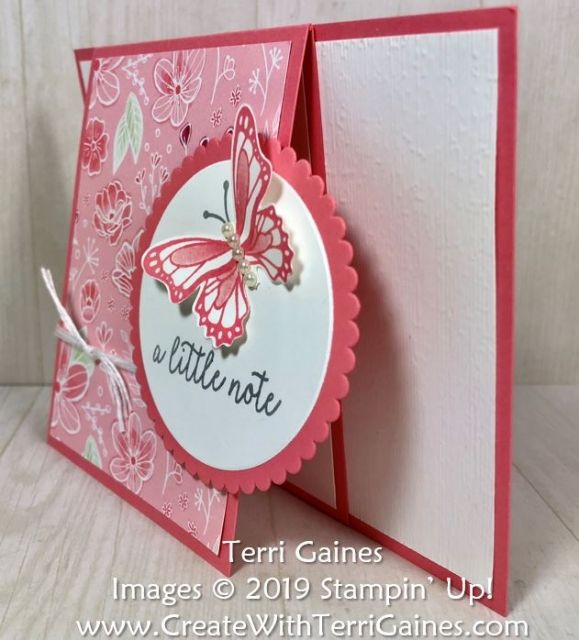 Fun Fold Card Using Stampin Up S Butterfly Gala Bundle Stamp Set Punch All My Love Designer Series Paper Fo Fun Fold Cards Shaped Cards Cards Handmade
