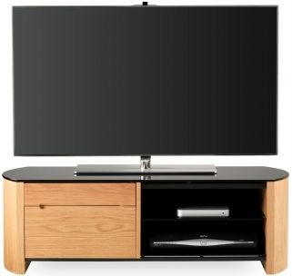 alphason finewood light oak tv cabinet fw1100cb
