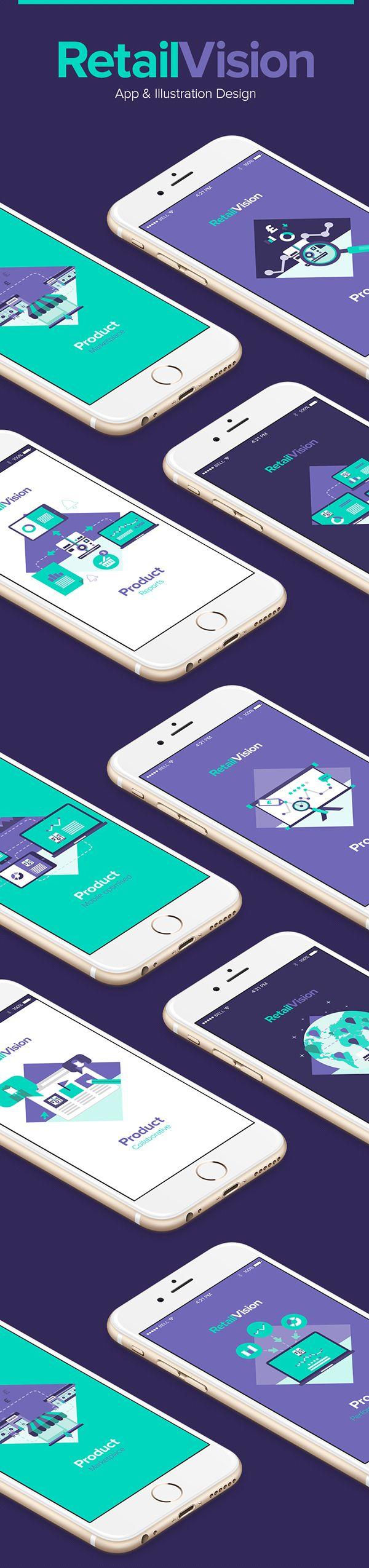 Unique App Design, RetailVision #App #Design