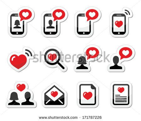 Sending love messages icons by Redkoala #valentines day #phone #heart