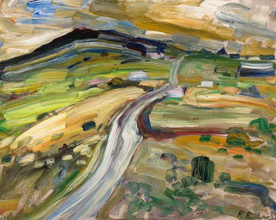 Rene Richard - Paysage 15.75 x 19.75 Oil on board