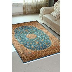 Turquoise Jewel Classic Handknotted Silk Carpet – Rugs and Beyond