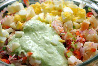 Shrimp stuffed avocado prep 3