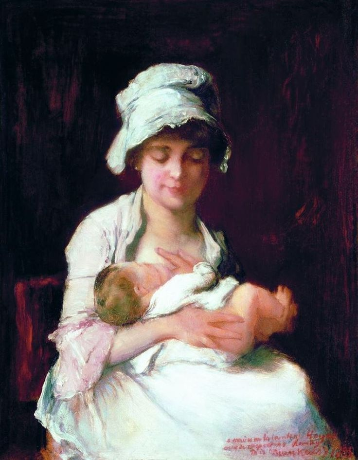 Munkácsy Mihály (1844-1900) - Anyai ösztön - tanulmány A dajka című képhez