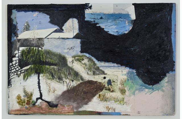 Clint Griffin | Making Piles | Techniques mixtes sur toile (mixed techiques on canvas) |2011