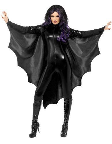 Halloween Vampire Wings Bat Wings With High Collar Black