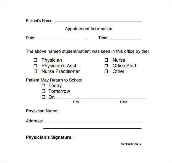 Doctor Note Template For School Doctors Note Template Doctors Note Dr Note For Work