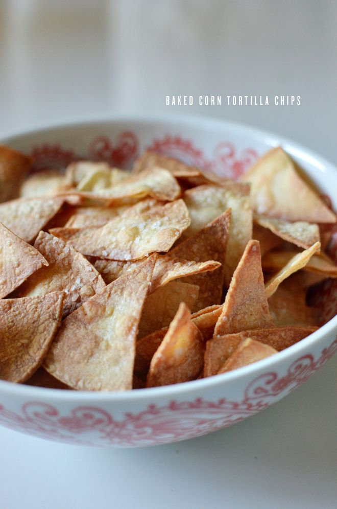 baked tortilla chips (these are easy and delicious. I just cannot ever ...