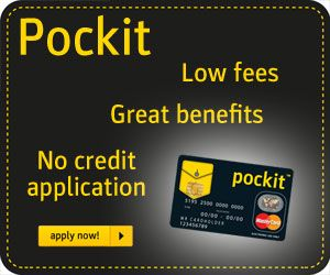 Pocket prepaid card banner