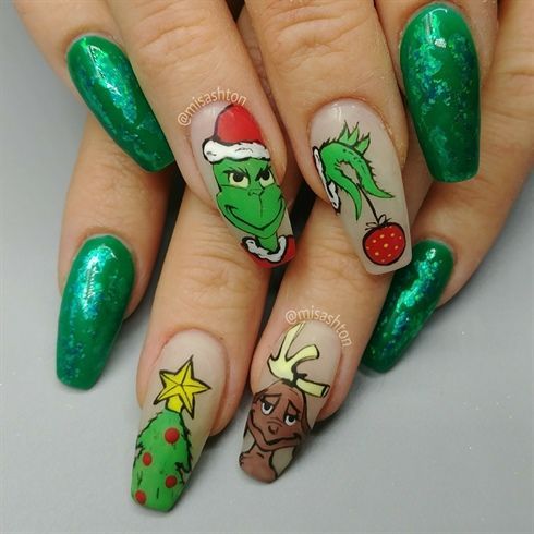 Best 25 nail art galleries ideas on pinterest nail art the grinch and max christmas nails by misashton from nail art gallery prinsesfo Images