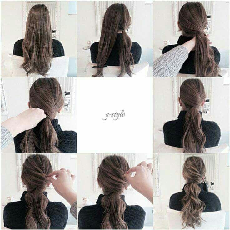 Fancy low ponytail