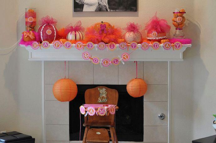mollys pink and orange pumpkin birthday party   Molly's Pink & Orange Pumpkin Birthday Party « Project Nursery